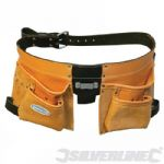 Double Pocket Leather Tool Belt